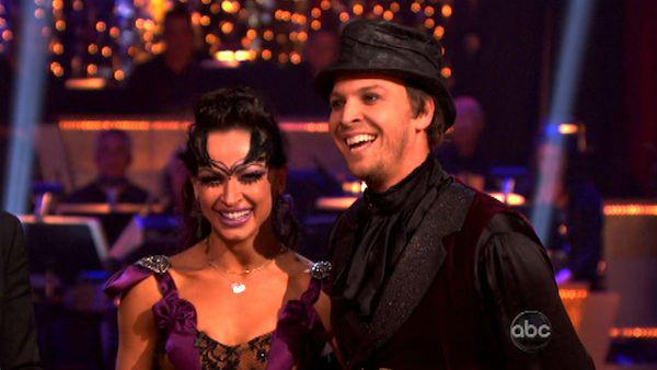 Singer Gavin DeGraw  and his partner Karina Smirnoff received 23 out of 30 points from the judges for their Tango on week four of 'Dancing With The Stars,' which aired on April 9, 2012.