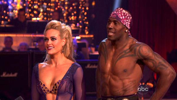 Football star Donald Driver and his partner Peta Murgatroyd received 27 out of 30 points from the judges for their Paso Doble on week four of 'Dancing With The Stars,' which aired on April 9, 2012.