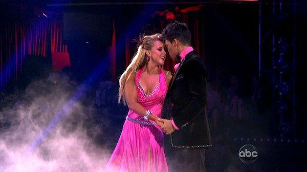 Disney Channel star Roshon Fegan and his partner Chelsie Hightower received 26 out of 30 points from the judges for their Viennese Waltz on week four of 'Dancing With The Stars,' which aired on April 9, 2012.