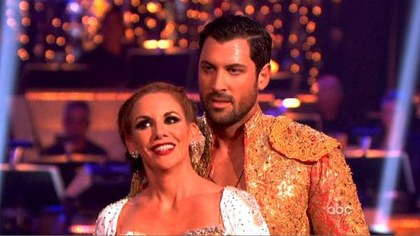 Melissa Gilbert, a former child star who played Laura on 'Little House on the Prairie,' and her partner Maksim Chmerkovskiy received 22 out of 30 points from the judges for their Paso Doble on week four of 'Dancing With The Stars,' which aired on April 9,
