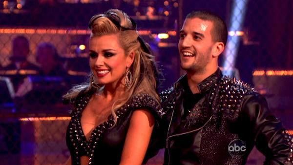 Classical singer Katherine Jenkins and her partner Mark Ballas received 24 out of 30 points from the judges for their Paso Doble on week four of 'Dancing With The Stars,' which aired on April 9, 2012.