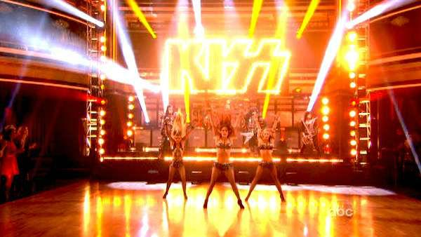 KISS performed with the dance troupe on week four of 'Dancing With The Stars,' which aired on April 9, 2012.