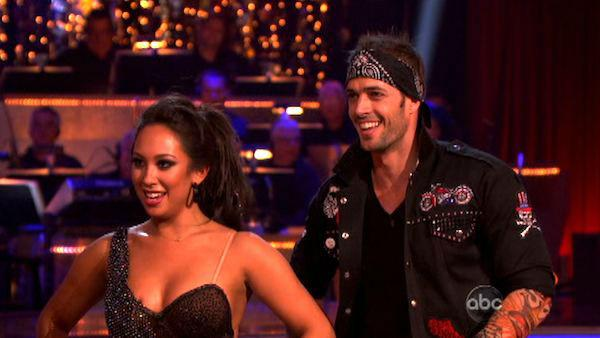 Telenovela star William Levy and his partner Cheryl Burke received 22 out of 30 points from the judges for their Jive on week four of 'Dancing With The Stars,' which aired on April 9, 2012.