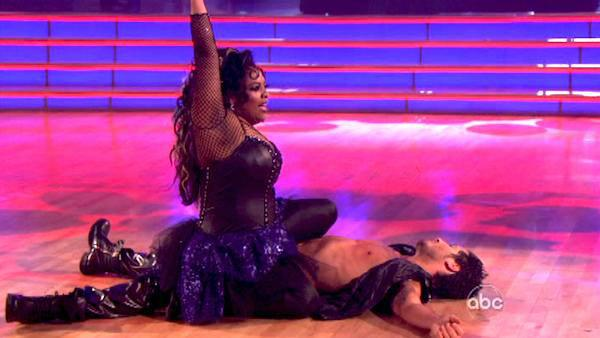 'The View' co-host Sherri Shepherd and her partner Valentin Chmerkovskiy received 21 out of 30 points from the judges for their Tango on week four of 'Dancing With The Stars,' which aired on April 9, 2012.
