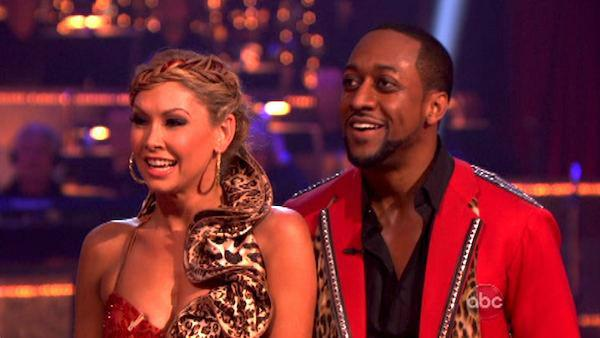 Jaleel White, who played Steve Urkel on 'Family Matters,' and his partner Kym Johnson received 22 out of 30 points from the judges for their Tango on week four of 'Dancing With The Stars,' which aired on April 9, 2012.