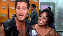 Sherri Shepherd and Valentin Chmerkovskiy talk to OnTheRedCarpet.com after Dancing With The Stars on April 9, 2012. - Provided courtesy of OTRC