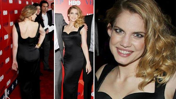 Anna Chlumsky arrives at the New York premiere of her HBO series Veep on April 10, 2012 - Provided courtesy of Starpix / Facebook.com/veep