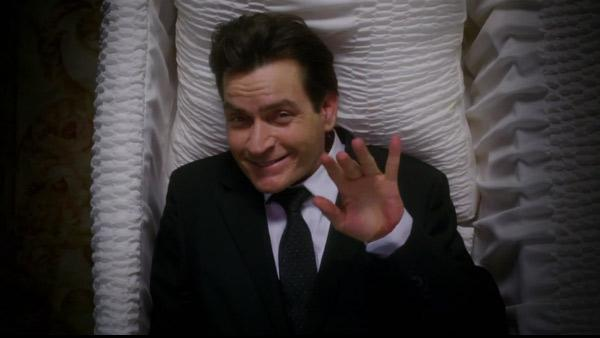 Charlie Sheen appears in a teaser video for his new 2012 comedy series, Anger Management. - Provided courtesy of FX