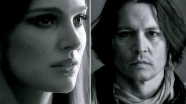 Johnny Depp and Natalie Portman appear in stills from Paul McCartneys My Valentine music video. - Provided courtesy of PaulMcCartney.com