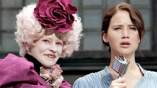 Jennifer Lawrence and Elizabeth Banks appear in a scene from The Hunger Games. - Provided courtesy of OTRC / Lionsgate