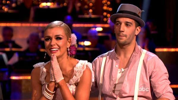 Classical singer Katherine Jenkins and her partner Mark Ballas received 29 out of 30 points from the judges for their Argentine Tango on week five of 'Dancing With The Stars,' which aired on April 16, 2012.