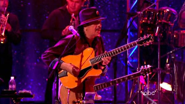Santana performed with the dance troupe on week four of 'Dancing With The Stars,' which aired on April 16, 2012.