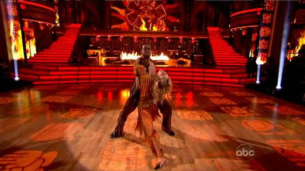 Jaleel White, who played Steve Urkel on 'Family Matters,' and his partner Kym Johnson received 24 out of 30 points from the judges for their Salsa on week five of 'Dancing With The Stars,' which aired on April 16, 2012.