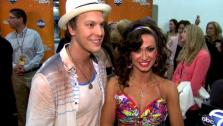 Gavin DeGraw and Karina Smirnoff talk to OnTheRedCarpet.com after Dancing With The Stars on April 16, 2012. - Provided courtesy of ABC