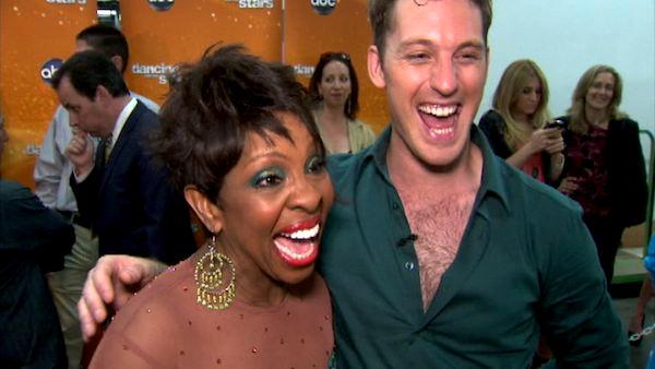 Gladys Knight and Tristan MacManus talk to OnTheRedCarpet.com after Dancing With The Stars on April 16, 2012. - Provided courtesy of OTRC