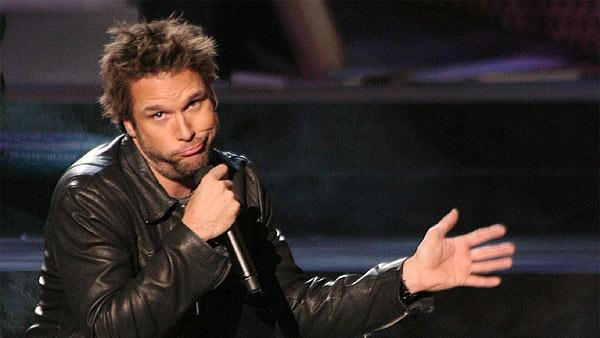 Dane Cook performs comedy at the 'Comic Relief' event in Las Vegas in November 2006.