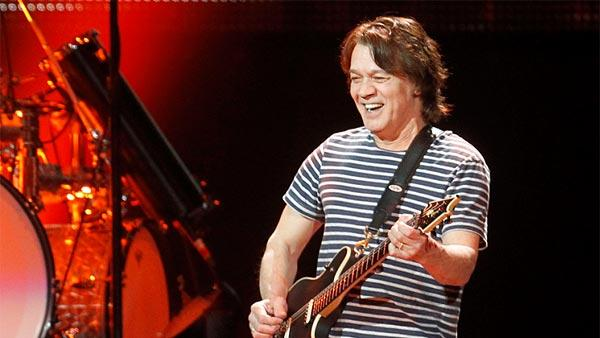 Eddie Van Halen performs during a Van Halen concert at Madison Square Garden on March 1, 2012 in New