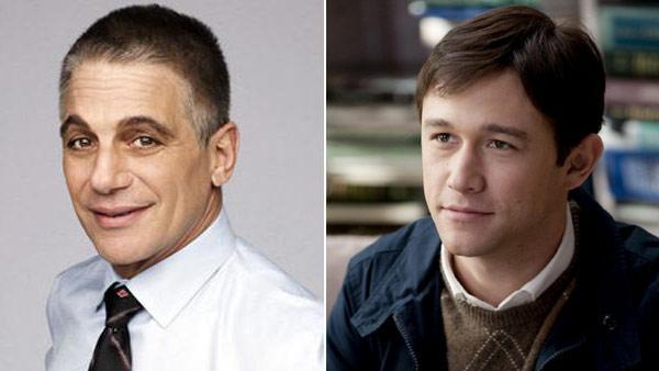 Tony Danza appears in a promotional photo for his show Teach: Tony Danza. / Joseph Gordon-Levitt appears in a still from the 2011 film 50/50. - Provided courtesy of A&ampE / Summit Entertainment / Chris Helcermanas-Benge