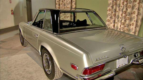 This 1969 280SL Roadster, photographed at a 2012 exhibit at the Warner Brothers Studios showcasing Mercedes-Benz automobiles featured in the movies.