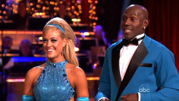 Football star Donald Driver and his partner Peta Murgatroyd received 27 out of 30 points from the judges for their tkdance on week six of 'Dancing With The Stars,' which aired on April 23, 2012.