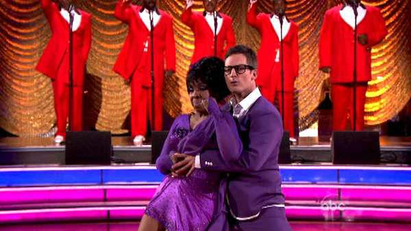 R&B legend Gladys Knight and her partner Tristan MacManus received 21 out of 30 points from the judges for their Rumba on week six of 'Dancing With The Stars,' which aired on April 23, 2012.