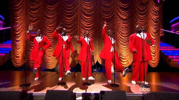 The Temptations performed on week six of 'Dancing With The Stars,' which aired on April 23, 2012.