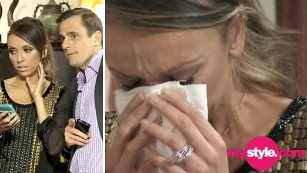 Giuliana and Bill Rancic react to the news that a surrogate mother is carrying their biological child, in a scene from an episode of the pairs Style network reality show Giuliana and Bill that airs on April 24, 2012. - Provided courtesy of OTRC / Style network / NBC Universal