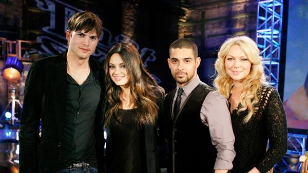 Ashton Kutcher, Mila Kunis, Wilmer Valderrama and Laura Prepon reunited for FOXs 25TH ANNIVERSARY SPECIAL which aired on April 22, 2012. - Provided courtesy of Beth Dubber/FOX