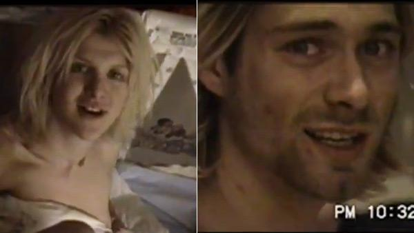 Kurt Cobain and Courtney Love sing an unreleased duet, Stinking of You, in a scene from HIT SO HARD, the new documentary in theaters and On Demand. - Provided courtesy of OTRC / YouTube / https://www.facebook.com/hitsoharddoc