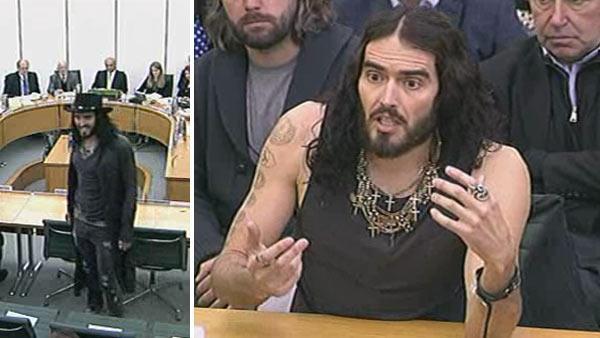 Russell Brand appears before the UK parliaments Home Affairs Committee on April 24, 2012. - Provided courtesy of UK Parliament / parliamentlive.tv