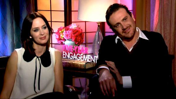 Jason Segel and Emily Blunt on 'The Five-Year Engagement'