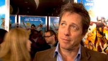 Hugh Grant talks to reporters at the New York premiere of The Pirates! Band of Misfits on April 22, 2012. - Provided courtesy of OTRC