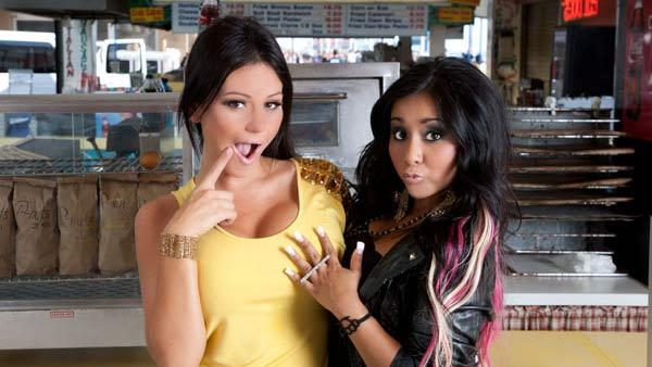 Snooki & JWoww appear in a promotional photo for the fifth season of the MTV show Jersey Shore in 2011. - Provided courtesy of MTV