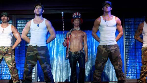 Alex Pettyfer, Matthew McConaughey and Channing Tatum appear in a still from the 2012 film, Magic Mike. - Provided courtesy of Warner Bros. Entertainment / Glen Wilson