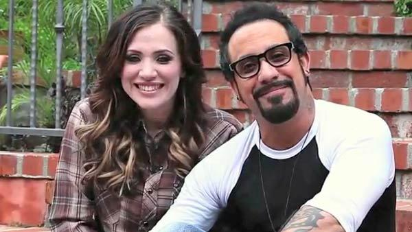 A.J. McLean and Rochelle DeAnna Karidis are seen in a YouTube video posted on April 29, 2012.