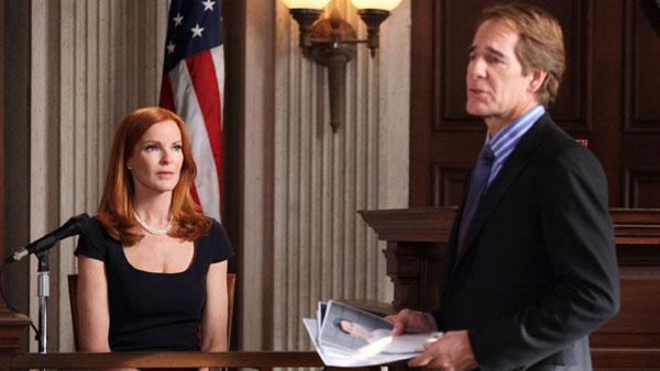 Scott Bakula and Marcia Cross appear in a still from a 2012 episode of Desperate Housewives. - Provided courtesy of ABC / Danny Feld