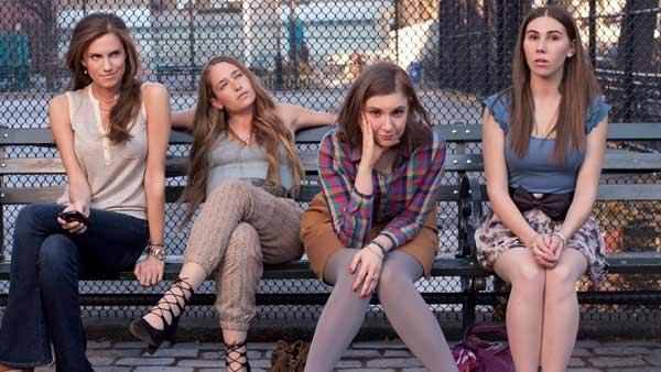 Allison Williams, Lena Dunham, Jemima Kirke and Zosia Mamet appear in a promotional photo for Girls in 2012. - Provided courtesy of HBO