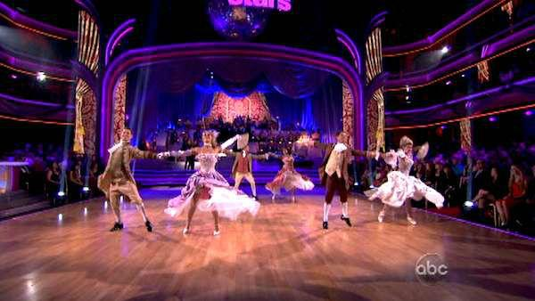 The dance troupe performs with the orchestra on week seven of 'Dancing With The Stars,' which aired on April 30, 2012.