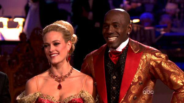 Football star Donald Driver and his partner Peta Murgatroyd received 27 out of 30 points from the judges for their Viennese Waltz on week seven of 'Dancing With The Stars,' which aired on April 30, 2012.