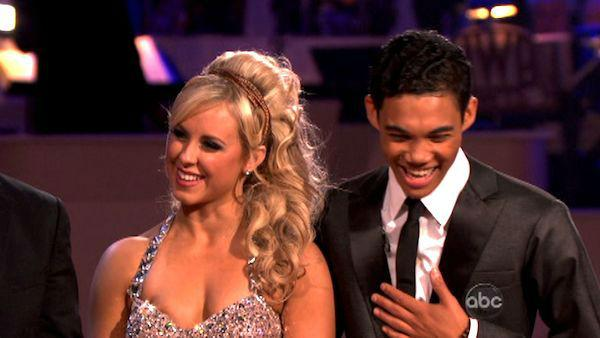 Disney Channel star Roshon Fegan and his partner Chelsie Hightower received 25 out of 30 points from the judges for their Argentine Tango on week seven of 'Dancing With The Stars,' which aired on April 30, 2012.