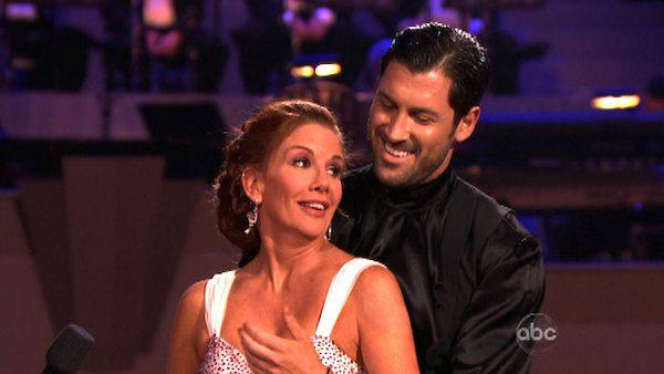 Melissa Gilbert, a former child star who played Laura on 'Little House on the Prairie,' and her partner Maksim Chmerkovskiy received 21 out of 30 points from the judges for their Argentine Tango on week seven of 'Dancing With The Stars,' which aired on Ap