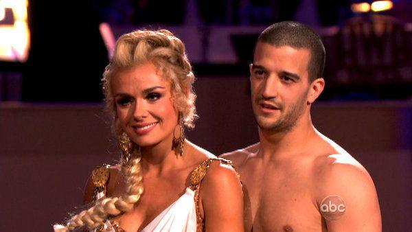 Classical singer Katherine Jenkins and her partner Mark Ballas received 27 out of 30 points from the judges for their Rumba on week seven of 'Dancing With The Stars,' which aired on April 30, 2012.