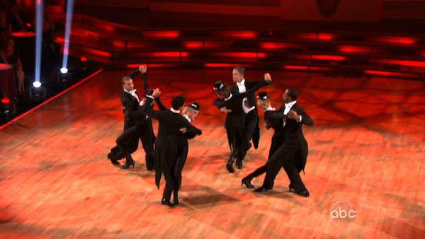 Team Tango received 27 out of 30 points from the judges on week seven of 'Dancing With The Stars,' which aired on April 30, 2012.