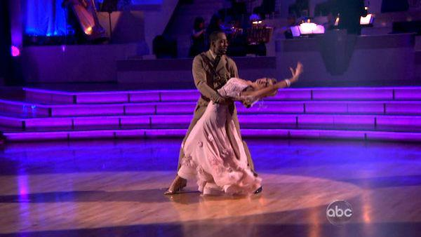 Jaleel White, who played Steve Urkel on 'Family Matters,' and his partner Kym Johnson received 24 out of 30 points from the judges for their Viennese Waltz on week seven of 'Dancing With The Stars,' which aired on April 30, 2012.