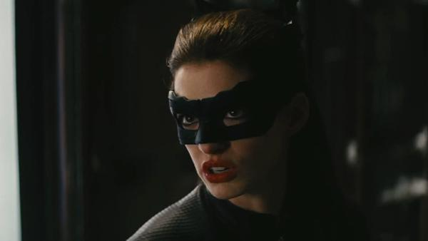 Anne Hathaway appears in a scene from the 2012 film 'The Dark Knight Rises.'