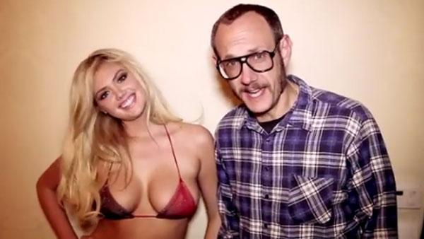 Kate Upton appears in a May 2012 video with celebrity photographer Terry Richardson. - Provided courtesy of Terry Richardson