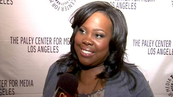 Amber Riley talks to OnTheRedCarpet.com at a 'Glee' event at t