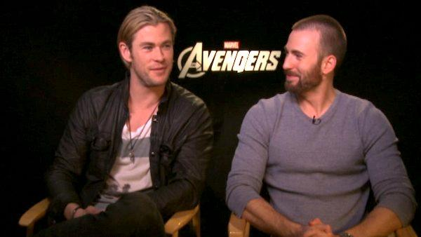 Chris Hemsworth and Chris Evans talk action