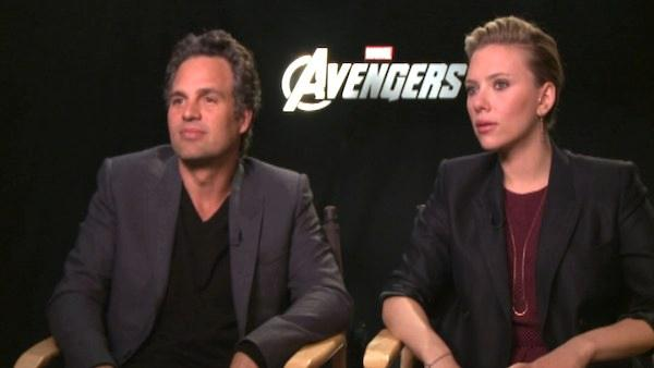 Scarlett Johansson and Mark Ruffalo on fans