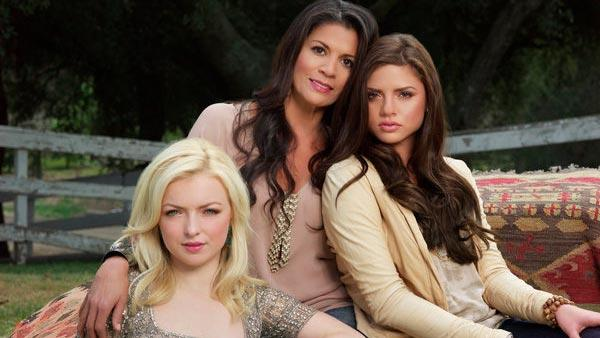 Dina, Morgan and Francesca appear in a publicity photo for E!s new reality series Mrs. Eastwood & Company. - Provided courtesy of E! Online